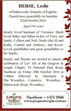 HERSE, Leslie of Palmwoods, formerly of Eagleby. Passed away peacefully on Saturday 22nd October 201...