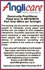 Community Practitioner Fixed term to 23/12/2016 Part time 48hrs per fortnight This exciting role will provide counselling and support to individuals, young people and families who are subject to child protection interventions. Successful applicants will have sound experience in case management and client support, with a track record ...