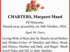 CHARTERS, Margaret Maud