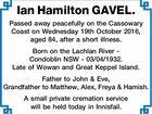 Ian Hamilton GAVEL