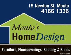 15 Newton St. Monto 4166 1336 Monto's HomeDesign Furniture, Floorcoverings, Bedding & Blinds...