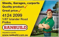 Sheds, Garages, carports Quality product Great price 4124 2099 request a quote www.ranbuild.com.au 6...