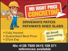 MR RIGHT PRICE CONCRETING