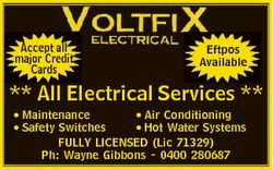 Accept all major Credit Cards Eftpos Available ** All Electrical Services ** * Maintenance * Air Con...