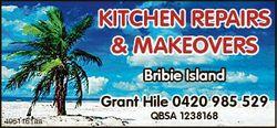 KITCHEN REPAIRS & MAKEOVERS Bribie Island Grant Hile 0420 985 529 4951161aa QBSA 1238168