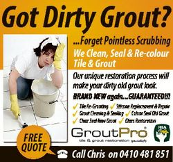 Got Dirty Grout? ...Forget Pointless Scrubbing We Clean, Seal & Re-colour Tile & Grout Our u...
