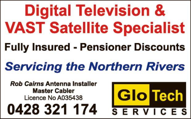 GLOTECH SERVICES & PRINTING    ANTENNA & RECEPTION PROBLEMS  ADSL BROADBAND I...