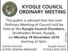 Ordinary Meeting 14/11/2016