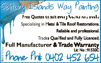 Solitary Islands Way Painting   Free Quotes to suit every Customer's needs   Speciali...