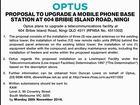 PROPOSAL TO UPGRADE A MOBILE PHONE BASE STATION AT 604 BRIBIE ISLAND ROAD, NINGI