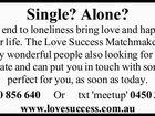 Single? Alone?