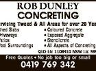 ROB DUNLEY CONCRETING