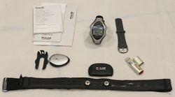 RS800CX Sports Watch, S3 Stride Sensor, foot pod with shoelace bracket, Wearlink WIND Heart Rate Tra...