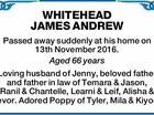 WHITEHEAD JAMES ANDREW