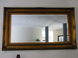 150cmx90cm with antique bronze frame
