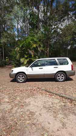 Manual 2004 MY04 white Subaru Forester by private seller.  RWC, reg to end 01/17.  Good condition, t...