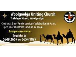 Woolgoolga Uniting Church Trafalgar Street, Woolgoolga. Christmas Day - Family service of celebra...