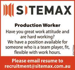 Production Worker Have you great work attitude and are hard working? We have a position available...
