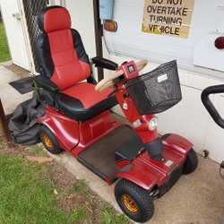 Lotus Blake Montana mobility scooter in as new condition with many features including suspension. Co...