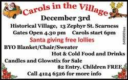 December 3rd   Historical Village, 13 Zephyre Street, Scarness   Gates Open 4:30pm   ...