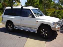 White 1997 Mitsubishi Pajero NL GLS, grey interior, 7 seat Wagon, 5 speed manual, 6 cylinder unleade...