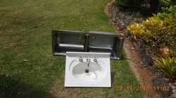 Twin tub Clark trough, Vanity Basin with Taps