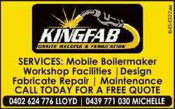 6454322aa SERVICES: Mobile Boilermaker Workshop Facilities |Design Fabricate Repair | Maintenance CA...