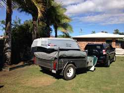 OFFROAD camper trailer, 2005, with enclosed annex, batteries, water tanks, including 10ft tinnie...