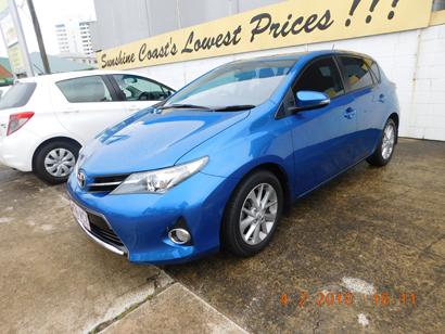 Toyota Corolla 2014   Sports Auto, Blue 50,000km, New Shape $15,500.   Ring Joe 0405 619...