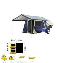 Xmas Special 5-man campers with 6x4 hvy duty trailer. Made to order. Dennis - Northside Camper Trail...