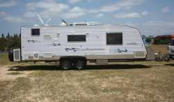 2008 Traveller Sensation, family caravan, 25ft, Ibis Air Cond, 186 lt Dometic Fridge, Telford Toilet...