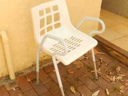 solid,comfy 42cm wide seat,adj height,armrests,help w local del.