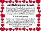 Judith Margaret Lewis