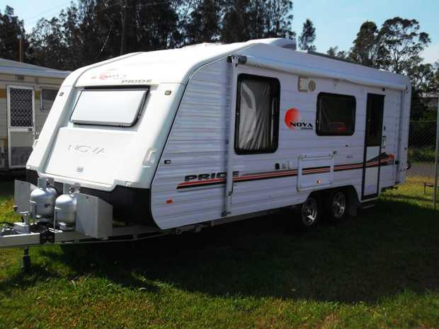Nova Pride 2009 Caravan 19.6ft Internal. Fitted out for free camping. 190L 2 Door Fridge. Full Ensui...