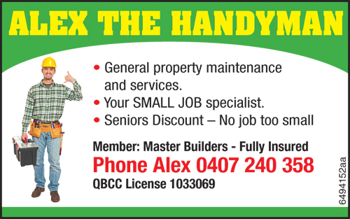 General Property Maintenance and Services  Your SMALL JOB specialist  Seniors Disco...