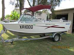 SAVAGE 435 Bay Cruiser, new May 2015, 40hp 4 stroke Merc. 30hrs use, under warranty, sounder, rad...