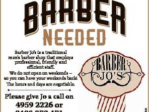 Barber Jo's is a traditional men's barber shop that employs professional, friendly and efficient staff. We do not open on weekends - so you can have your weekends back! The hours and days are negotiable. 4959 2226 or 0408 079 471 during business hours or drop your resume into ...