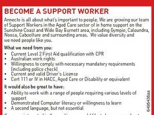 Better for me, better for my community. BECOME A SUPPORT WORKER 6495438aa Annecto is all about what's important to people. We are growing our team of Support Workers in the Aged Care sector of in home support on the Sunshine Coast and Wide Bay Burnett area, including Gympie, Caloundra ...