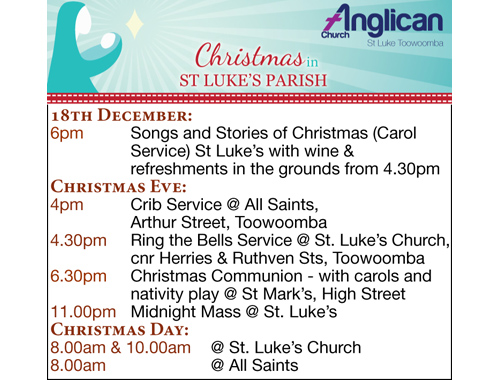 18th December: 6.00pmSongs and Stories of Christmas (Carol Service) St Luke's with...