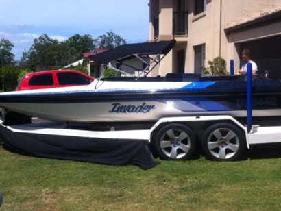 V8 SKI BOAT 2011, inboard 350 Chevy fresh water use only, 60 hours, all reg, on boat trailer, as...