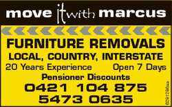 FURNITURE REMOVALS LOCAL, COUNTRY, INTERSTATE 0421 104 875 5473 0635 6281286aa 20 Years Experience O...
