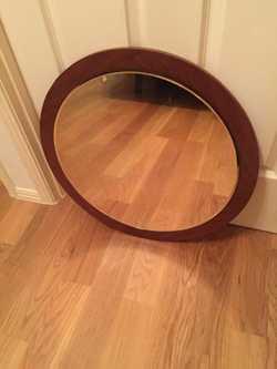 round, wooden frame, 57cm diameter