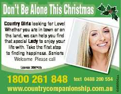 Don't Be Alone This Christmas Country Girls looking for Love! Whether you are in town or on the...
