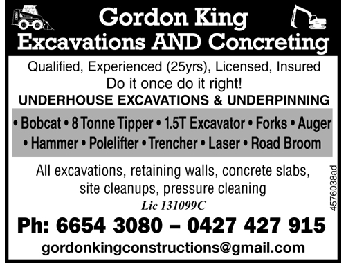 UNDERHOUSE EXCAVATIONS & UNDERPINNING