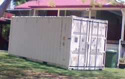New Cream Shipping Container for sale $3000 plus cost of removal ($300-$500) ono. Rosewood.  Phone D...