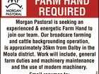 Farm Hand Wanted