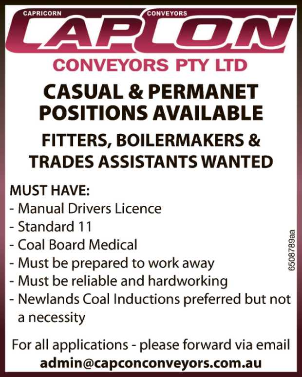 CASUAL & PERMANET POSITIONS AVAILABLE 