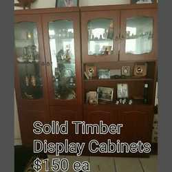 Solid timber display cabinet