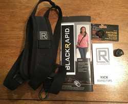 """BlackRapid """"Kick"""" shoulder strap with FastenR camera attachment, + FastenR Tripod attachment (""""FR-T1..."""