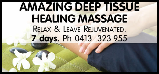 AMAZING DEEP TISSUE HEALING MASSAGE